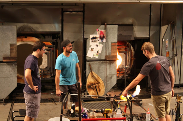 Hot Shop demonstrating glassblowing at Museum of Glass in Tacoma, Washington.