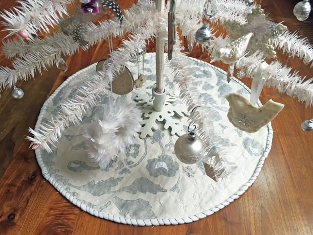 ive been working on my family christmas tree skirt over the past few years usually ill pull it out from the christmas closet in november and add some - Mini Christmas Tree Skirt
