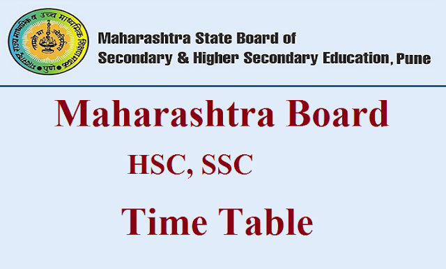 MSBSHSE Time Table Pdf Download 10th 12th Exam Date Sheet