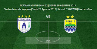 Prediksi Persipura vs Persib - Liga 1 Senin 28 Agustus 2017