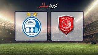 نتيجه مباراة الدحيل واستقلال طهران انتهت بالتعادل 1 - 1