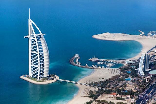 Los más lujosos y mejores hoteles del mundo, Burj al Arab el unico Hotel de 7 estrellas del mundo