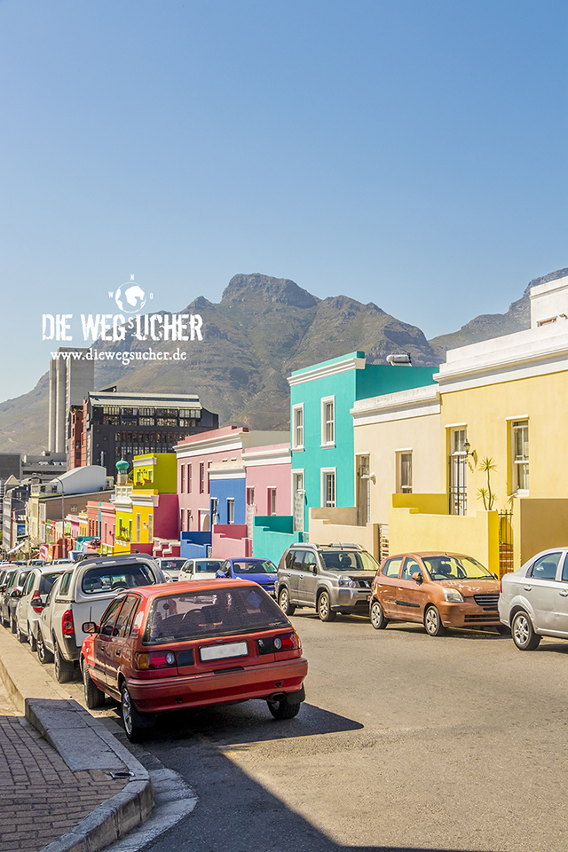 Weltreise im Bo-Kaap Viertel in Kapstadt, Südafrika