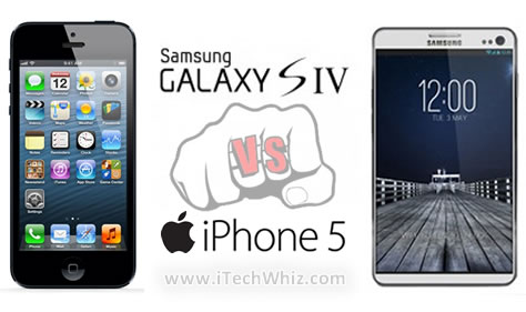 Samsung Galaxy S4 vs iPhone 5 Specs Comparison