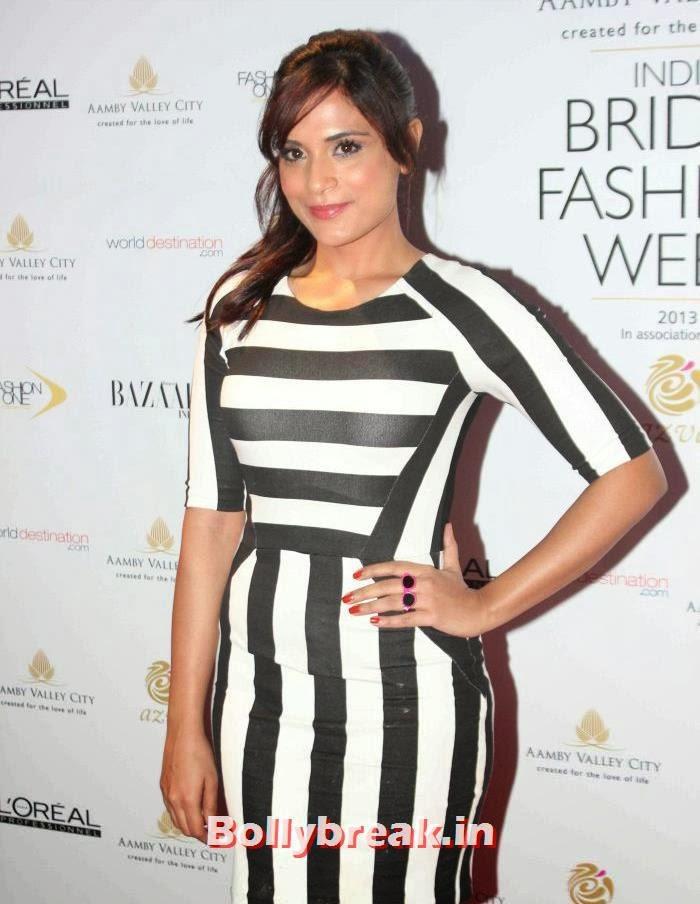 Richa Chadda, Hot Celebs at India Bridal Fashion Week 2013