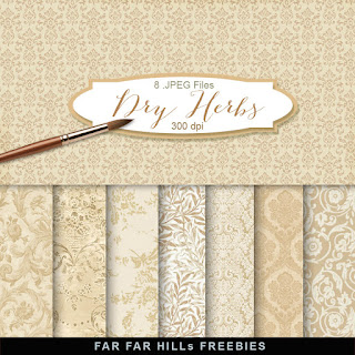 New Freebies Kit of Backgrounds - Dry Herbs