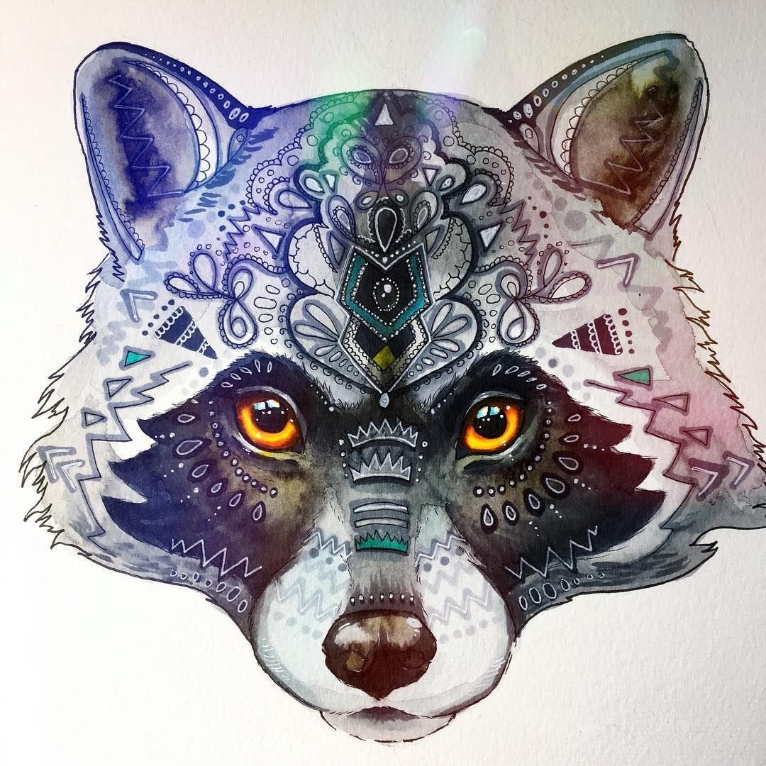 14-Raccoon-Pixie-Cold-Fantasy-Animals-in-Different-Style-Drawings-www-designstack-co