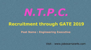 NTPC Recruitment through gate
