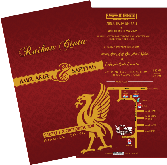 Online Printing Services Kad Kahwin Liverpool