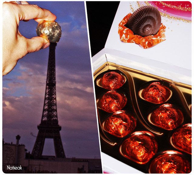 chocolats Lanvin  escargot or et orange
