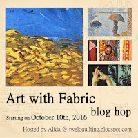 Art with Fabric blog hop button