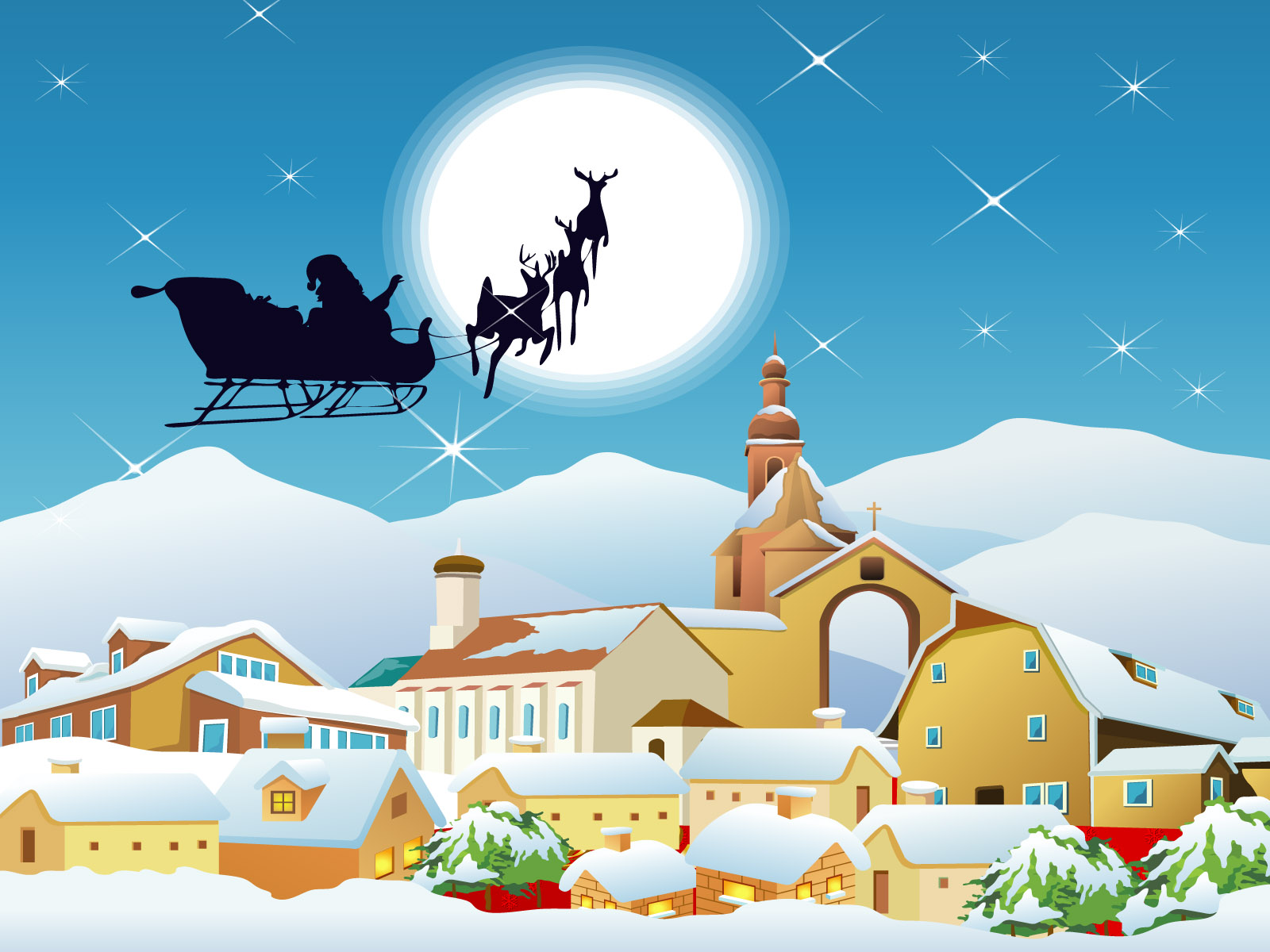 Santa claus pictures cards for kids free download pixhome - Anime christmas wallpaper ...