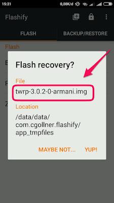 Cara Memasang TWRP 3 Xiaomi Redmi 1S