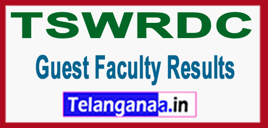 TSWRDC Guest Faculty 2018 Results