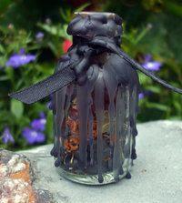 aprenda a fazer uma garrafa de bruxa