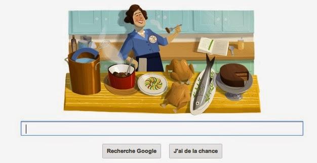 capture de la page d'accueil de Google en ce jour.
