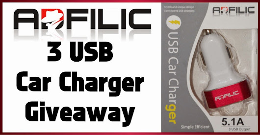 Royalegacy Reviews and More: Triple USB Car Charger - So Powerful from Adfilic - Review & Giveaway - ends 9/18 US