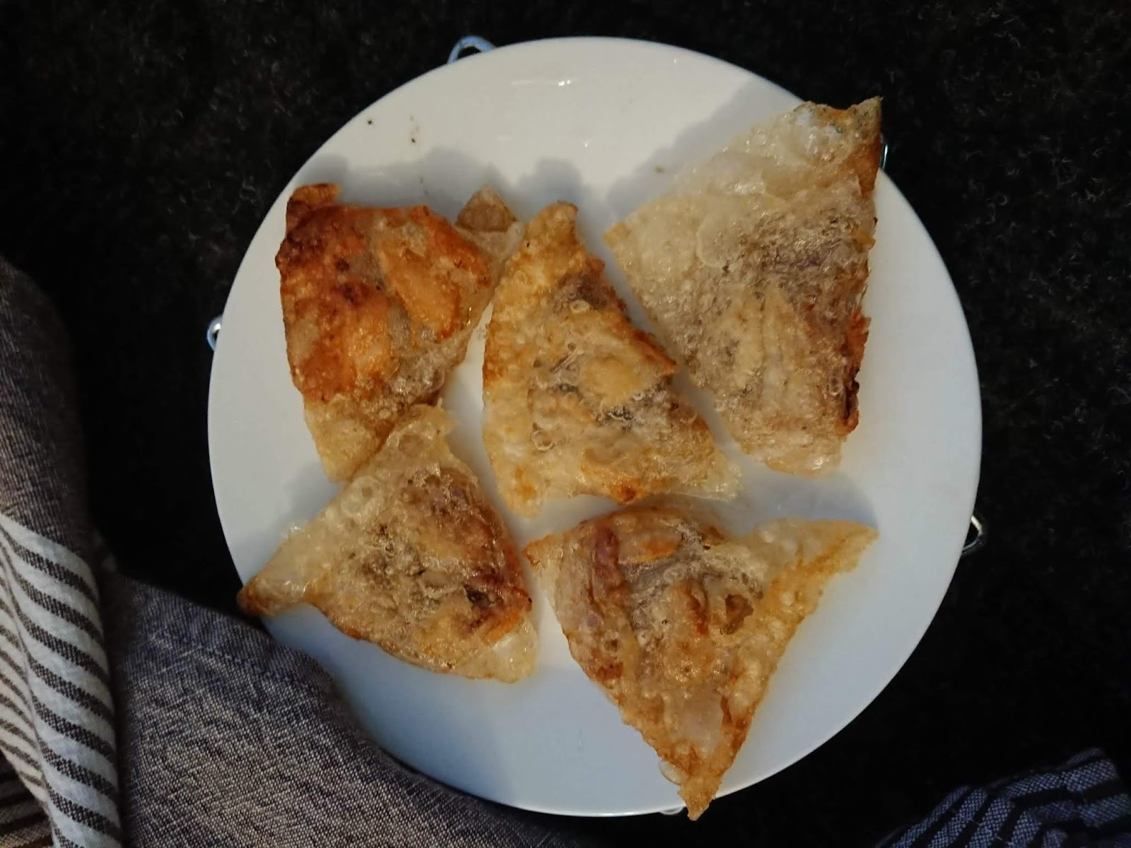 Allergy friendly, gluten free rice paper samosas
