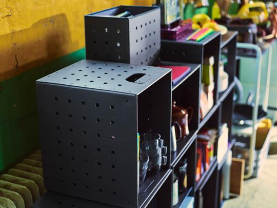 IKEA PS 2017 låd-set med tre större och två mindre lådor designade av Gustav Carlberg. | www.var-dags-rum.se