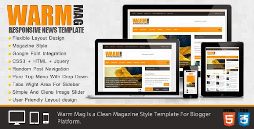 Blog Warmmage Responsive News Template