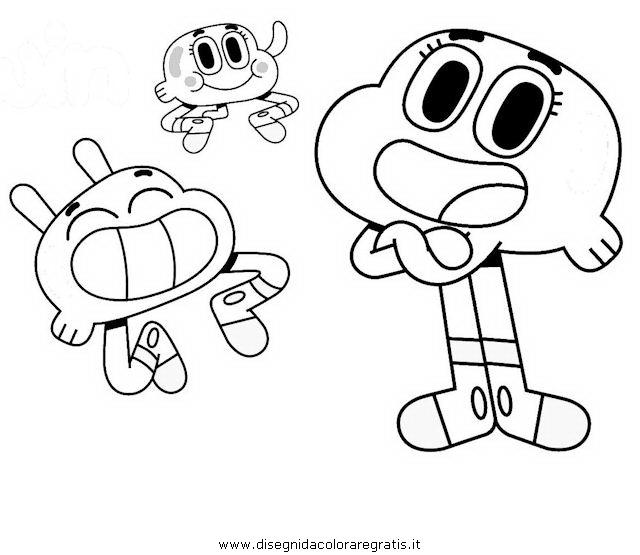 Gumball y sus amigos para que los colorees