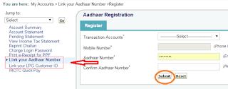 Aadhar card Seeding to bank account number