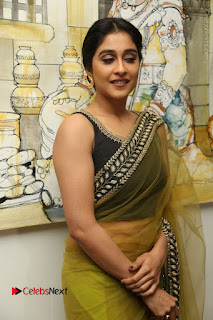 Actress Regina Stills in Green Saree at Vivaha Bhojanambu Restaurant Launch  0108.JPG