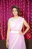 Surabhi in Designer Pink Saree and White Sleeveless Choli at Zee Telugu Apsara Awards 2017 02.JPG