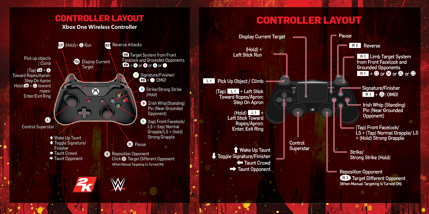 REVIEW -- WWE 2K18 - Method To Madness Xbox One Vs Xbox 360 Controller
