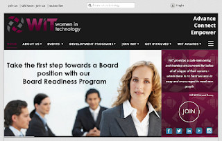 Screenshot of the Women in Technology website