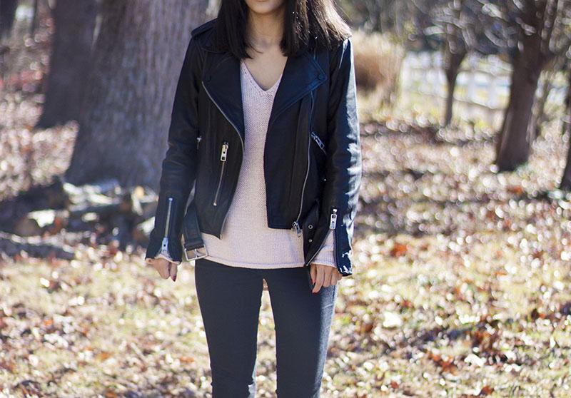 1 year review on allsaints balfern leather jacket