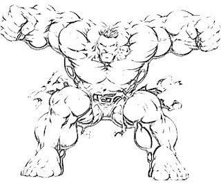 Kids Page: Hulk Mask Colouringpage 2 Coloring Pages