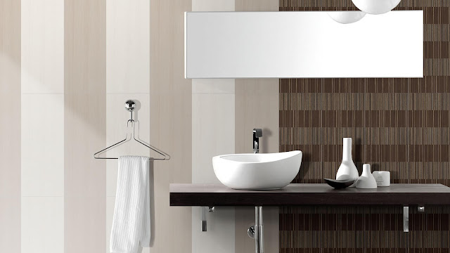 Toilet tiles design images of Flou series