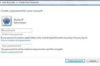 Cara Mudah Membuat Password Pada Komputer
