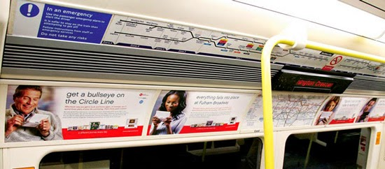 London Underground Tube Advertising Transport Campaign