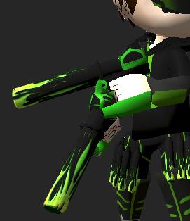 Guns Skin Aottg Colored Flame AHSS AOTTG - Flaming Gun Style Attack On Titan Tribute Game