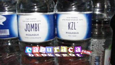 Kata unik di botol Aqua