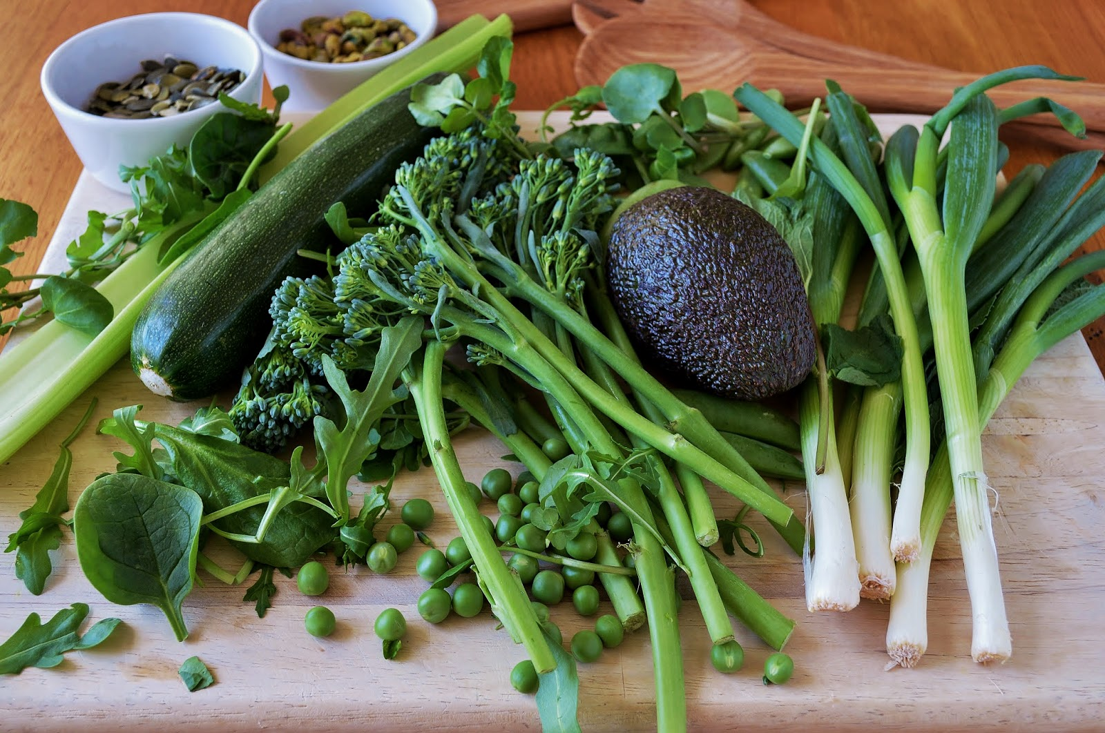 Green Vegetables for the salad