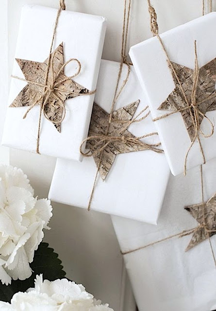 white gift wrapping