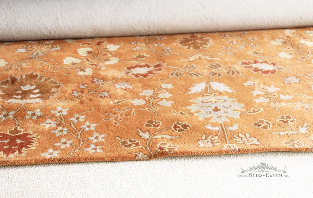 Orange rug, Bliss-Ranch.com