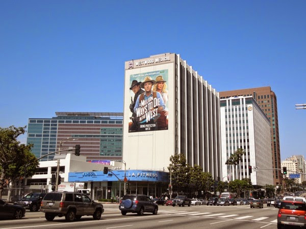 Giant Million Ways to Die in the West movie billboard