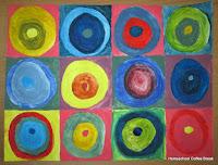 Kandinsky - Blogging Through the Alphabet - an artist study of Wassily Kandinsky and his colorful abstract art on Homeschool Coffee Break @ kympossibleblog.blogspot.com  #art #artiststudy #ABCBlogging