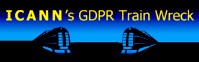 ICANN's GDPR Train Wreck ©2018 DomainMondo.com