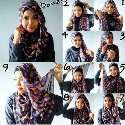 Model dan Cara Menggunakan Hijab Pashmina Simpel Praktis 7