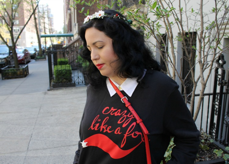 A Vintage Nerd, Kate Spade Red Crossbody, Retro Fashion Blog, eShakti Black Dress