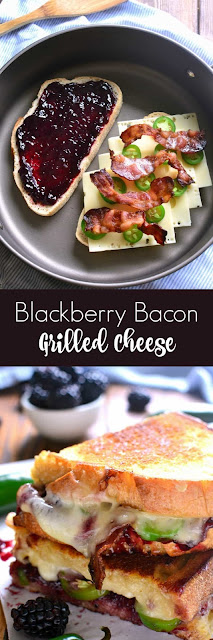 This Blackberry Bacon Grilled Cheese is the perfect combination of savory in addition to sweetness Blackberry Bacon Grilled Cheese