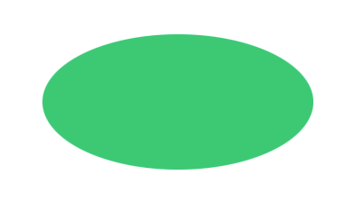 Create an oval shape with HTML and CSS
