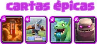 tipos de cartas epicas clash royale