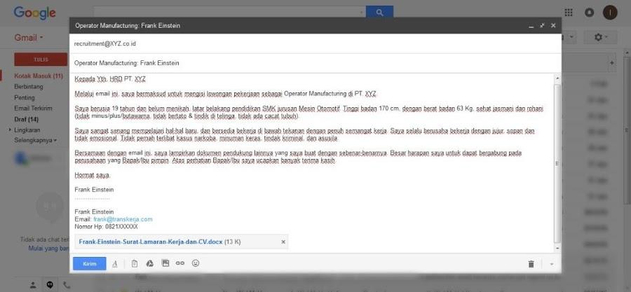 Cara Sederhana Mengirim Surat Lamaran Kerja via Email