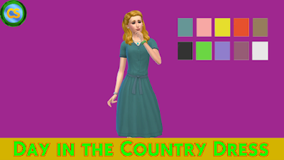 Day in the Country Dress ~ Cepzid Sims
